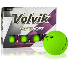 Volvik Vivid Soft Green Personalized Golf Balls