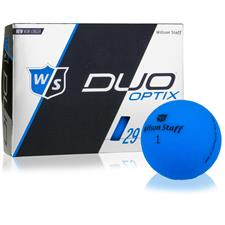 Wilson Staff Duo Soft Optix Matte Blue Personalized Golf Balls