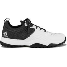 Adidas Black-White-Metallic Silver Adipower 4orged Sport Golf Shoes