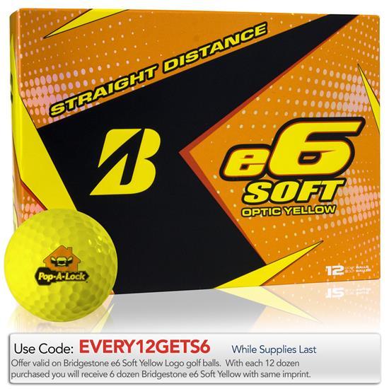 Bridgestone e6 Soft Yellow Golf Balls
