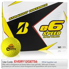 Bridgestone Custom Logo e6 Speed Yellow Golf Balls