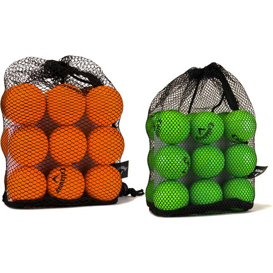 Callaway Golf HX Practice Golf Balls - 18 Pack with Mesh Bag