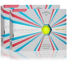 Callaway Golf Supersoft Yellow Double Dozen Golf Balls