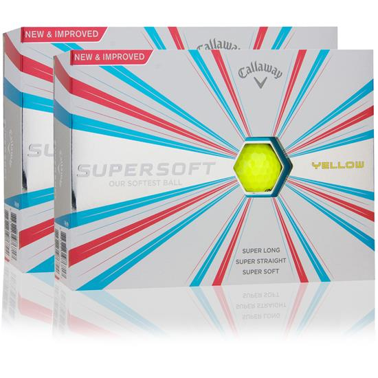 Callaway Golf Supersoft Yellow Double Dozen Golf Balls