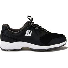 FootJoy Men's Athletics Spikeless Golf Shoe - Black - 10 Medium