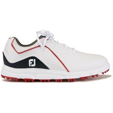 FootJoy White-Navy Pro/SL Junior Golf Shoe