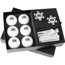 Gift Box Half-Dozen with Poker Chip Ball Markers