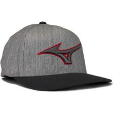 Mizuno Men's Diamond Snapback Personalized Hat - Heathered Grey