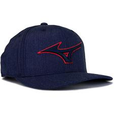Mizuno Men's Diamond Snapback Personalized Hat - Navy-Red