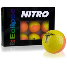 Nitro Eclipse Yellow-Orange Golf Balls