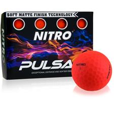 Nitro Pulsar Matte Finish Red Golf Balls