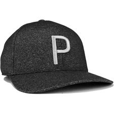 Puma Men's P 110 Snapback Personalized Hat - Black Heather-Quiet Shade