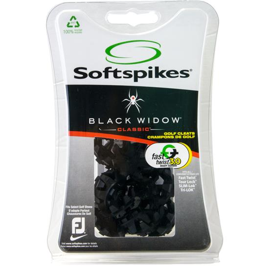 Softspikes Black Widow Golf Spikes - Fast Twist 3.0