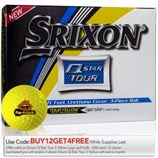 Srixon Q-Star Tour 2 Yellow Custom Logo Golf Balls