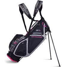 Sun Mountain 3.5 LS Stand Bag for Women - Black-Gray Galaxy-Pink