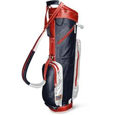 Sun Mountain Leather Cart Bag - Navy-White-Red
