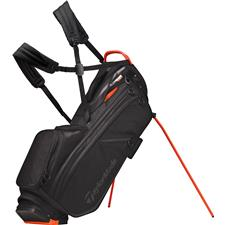 Taylor Made Flextech Crossover Personalized Stand Bag - Black-Blood Orange