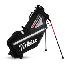 Titleist Players 4 StaDry Personalized Stand Bag - Black-Sleet-Red
