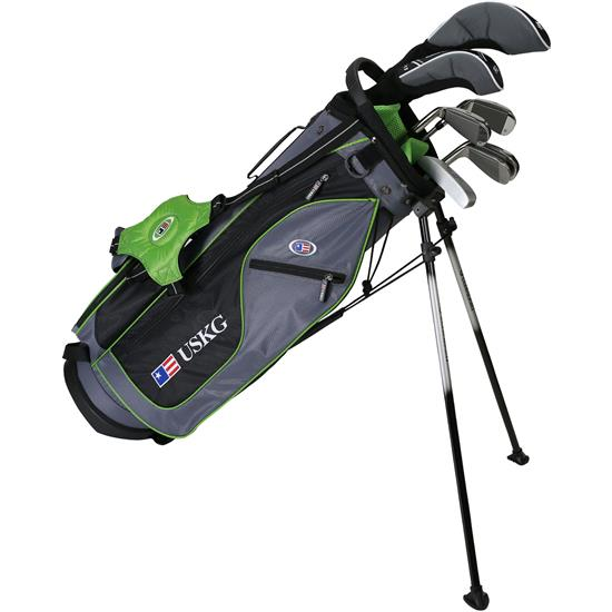 U.S. Kids Ultralight 57 Inch 7-Club DV2 Stand Bag Set