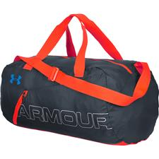 Under Armour UA Packable Duffel - Stealth Gray-Bolt Orange-Blue Jet