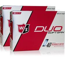 Wilson Staff Duo Soft Spin Double Dozen Golf Balls