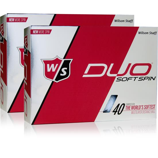 Wilson Staff Duo Soft Spin Double Dozen Golf Balls