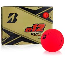 Bridgestone Custom Logo e12 Soft Matte Red Golf Balls