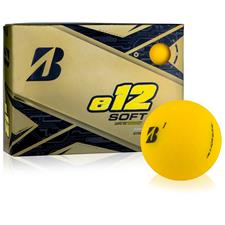 Bridgestone Custom Logo e12 Soft Matte Yellow Golf Balls