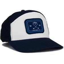 Callaway Golf Men's 6 Panel Trucker Hat - Navy-White