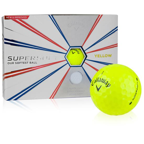 Callaway Golf Supersoft Yellow Golf Balls - 2019 Model