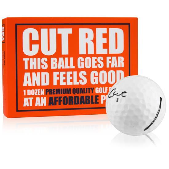 Cut Golf 2-Piece Ionomer Red Golf Balls