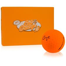 Cut Golf 3-Piece Surlyn Matte Orange Personalized Golf Balls