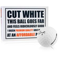 Cut Golf 3-Piece Surlyn Matte White Personalized Golf Balls