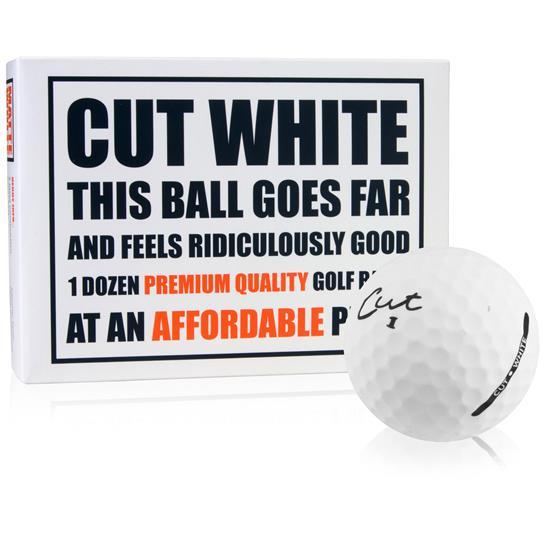Cut Golf 3-Piece Surlyn Matte White Golf Balls