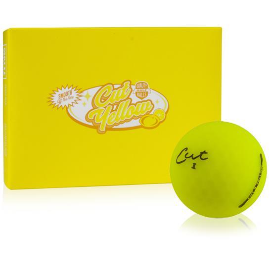 Cut Golf 3-Piece Surlyn Matte Yellow Golf Balls