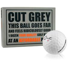 Cut Golf 3-Piece Urethane Grey Novelty Golf Balls
