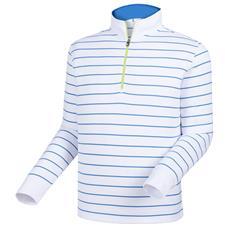FootJoy Men's Double Layer Stripe Half-Zip Mid Layer Pullover