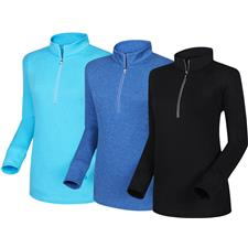 FootJoy Half-Zip Mid Layer with Textured Back for Women