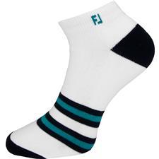 FootJoy Men's Harbor Springs ProDry Fashion Sport Socks - 360 Stripe White-Navy-Emerald