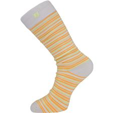 FootJoy Men's Pacific Grove ProDry Fashion Crew Socks - Mini Striped Cream-Melon-Green Apple