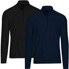 Greg Norman Men's Long Sleeve Heathered 1/4 Zip Mock Pullover