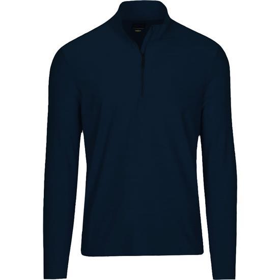 Greg Norman Men's Long Sleeve Heathered 1/4 Zip Mock Pullover