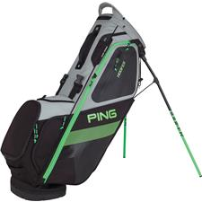 PING Hoofer Personalized Carry Bag - Black-Electric Green
