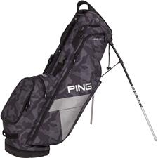 PING Hoofer Lite Personalized Carry Bag - Black Camo-Platinum