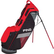 PING Hoofer Lite Personalized Carry Bag - Scarlet-Black-Grey
