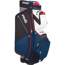 PING Pioneer Personalized Cart Bag - Navy-White-Scarlet