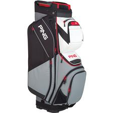 PING Pioneer Personalized Cart Bag - Silver-White-Scarlet