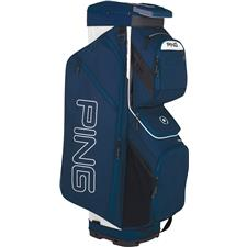 PING Traverse Personalized Cart Bag - Navy-White