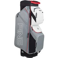 PING Traverse Cart Bag - Silver-Scarlet-White