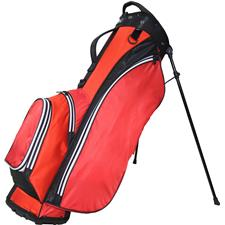 RJ Sports Playoff 5-Way Stand Bag - Red-Black